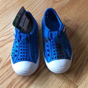 Boys blue shoes.